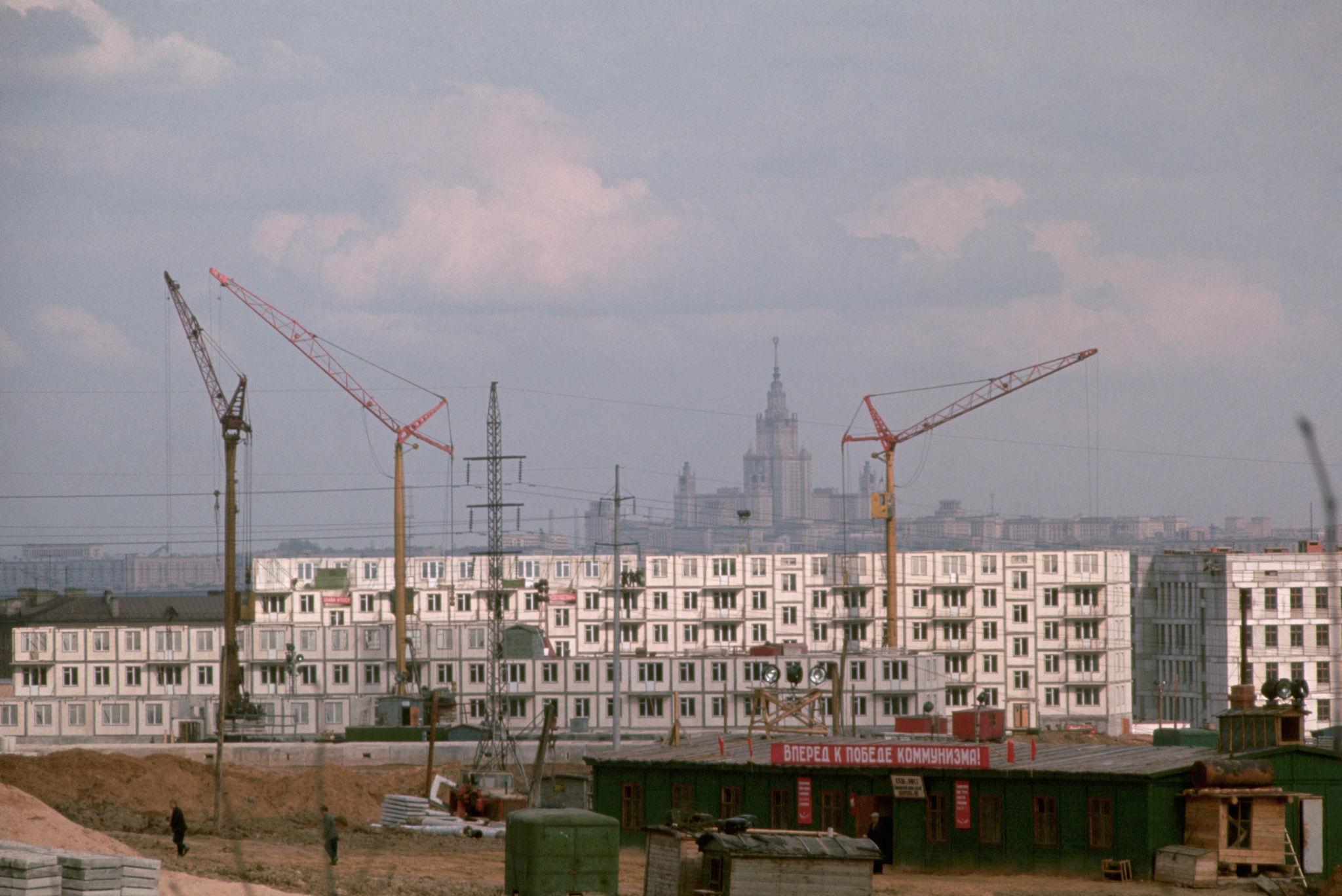 Стройка в районе Вяземской улицы. 1964.jpg