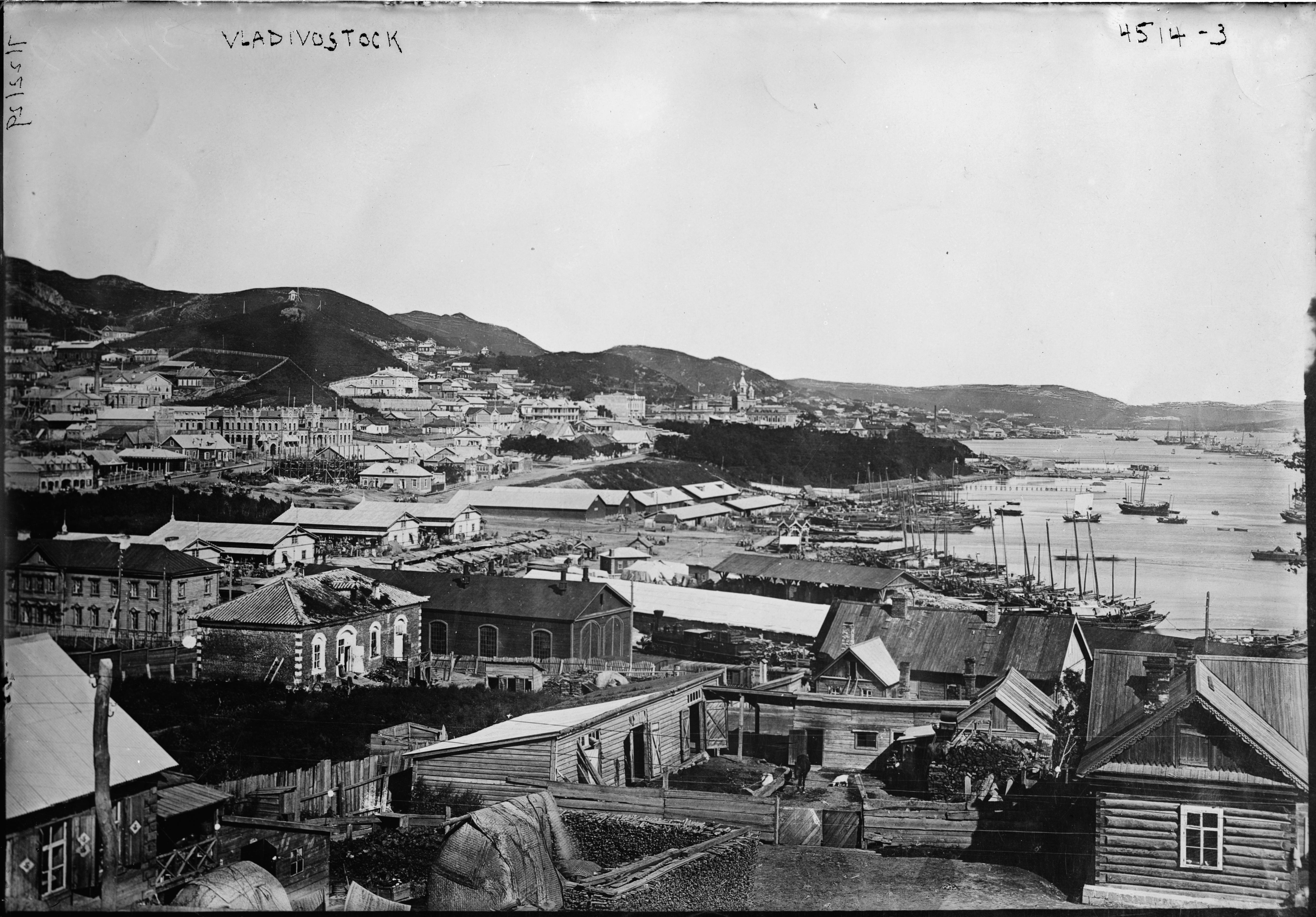 Вид на восточную часть города. 1896