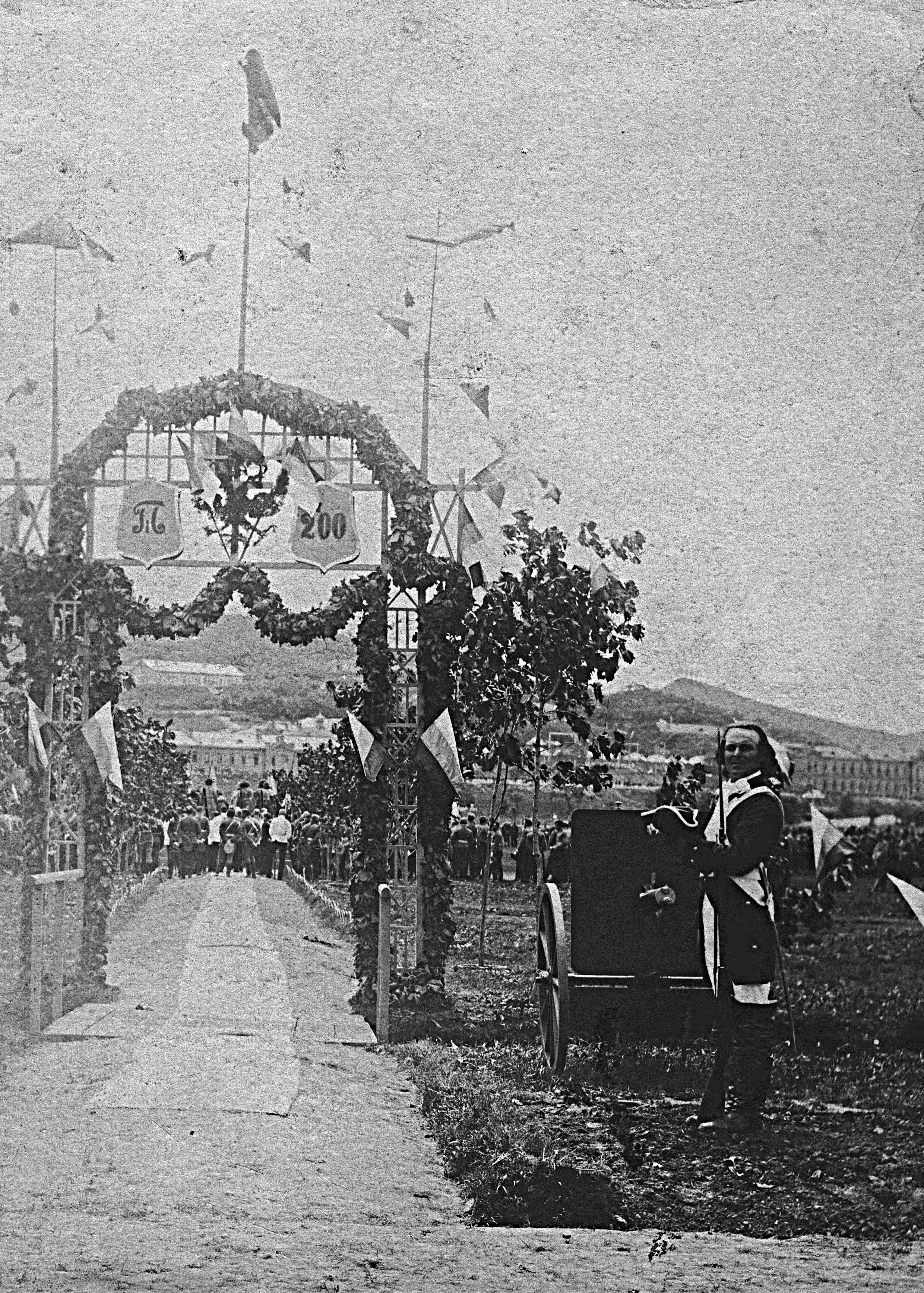 Празднование 200-летия Полтавской битвы. 1912