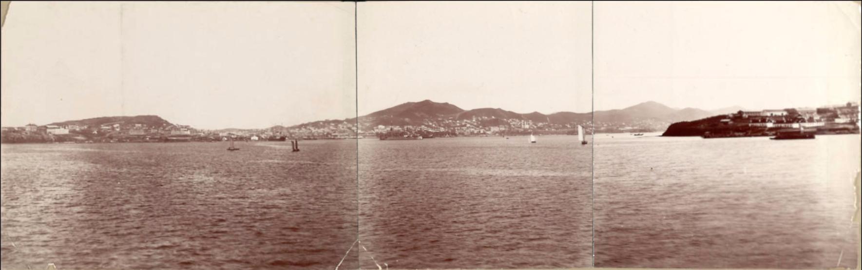 Панорама города с моря. 1894.