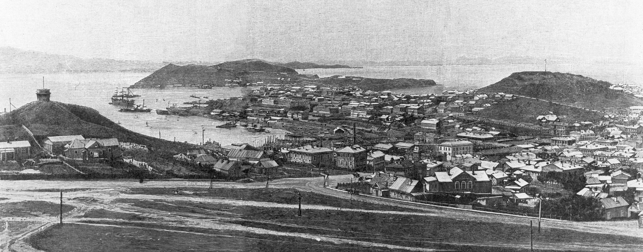 Перекресток Суйфунской и Нагорной и вид на центр города. 1894
