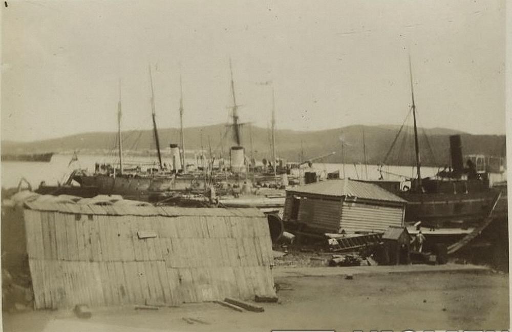 Корабли в военном порту. 1895