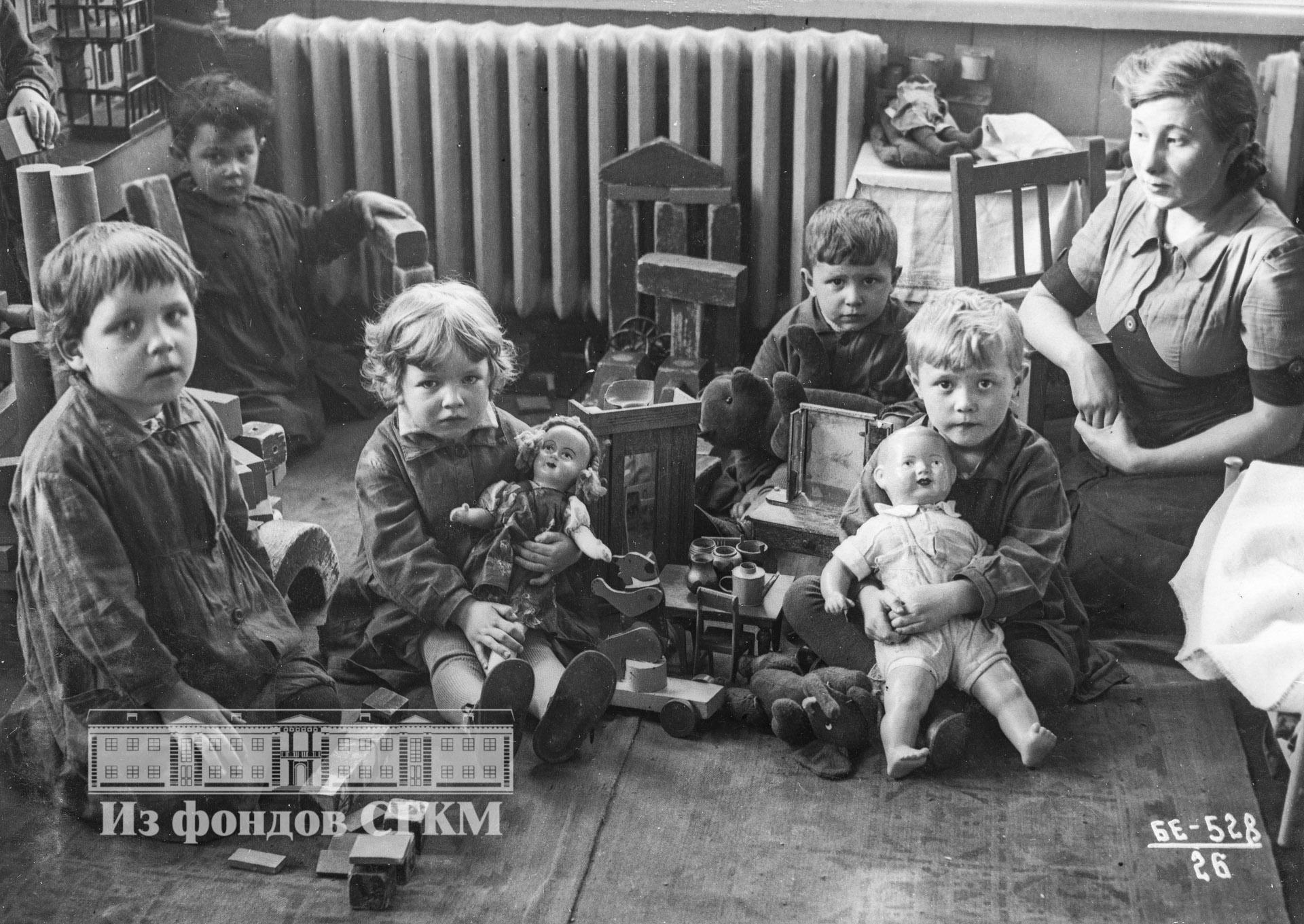 1940. Детский сад строительства. Средняя группа