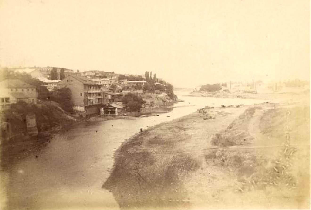 09. Тифлис, вид с вершины моста через Куру