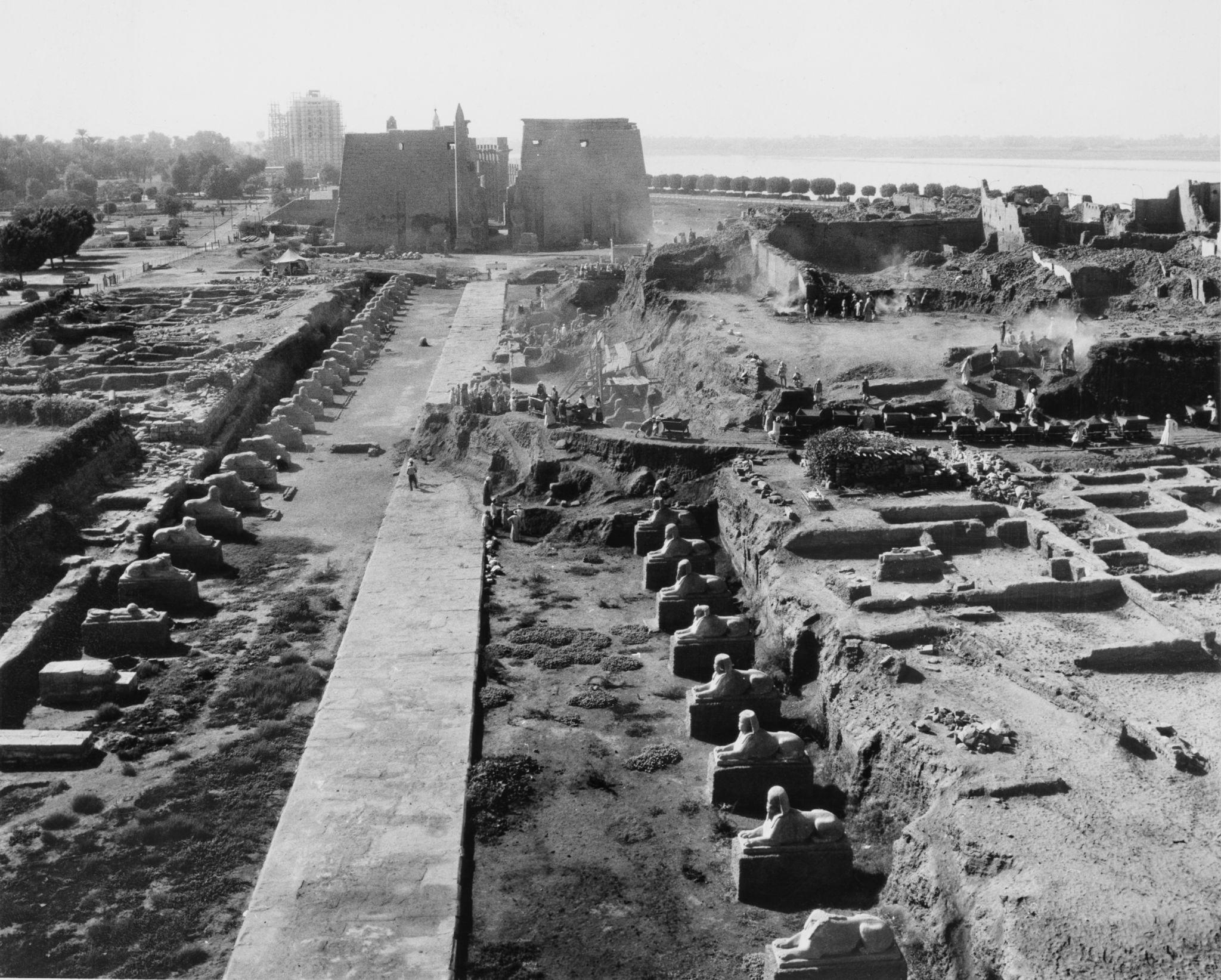 1955. Ведутся археологические раскопки в  Луксоре на восточном берегу Нила