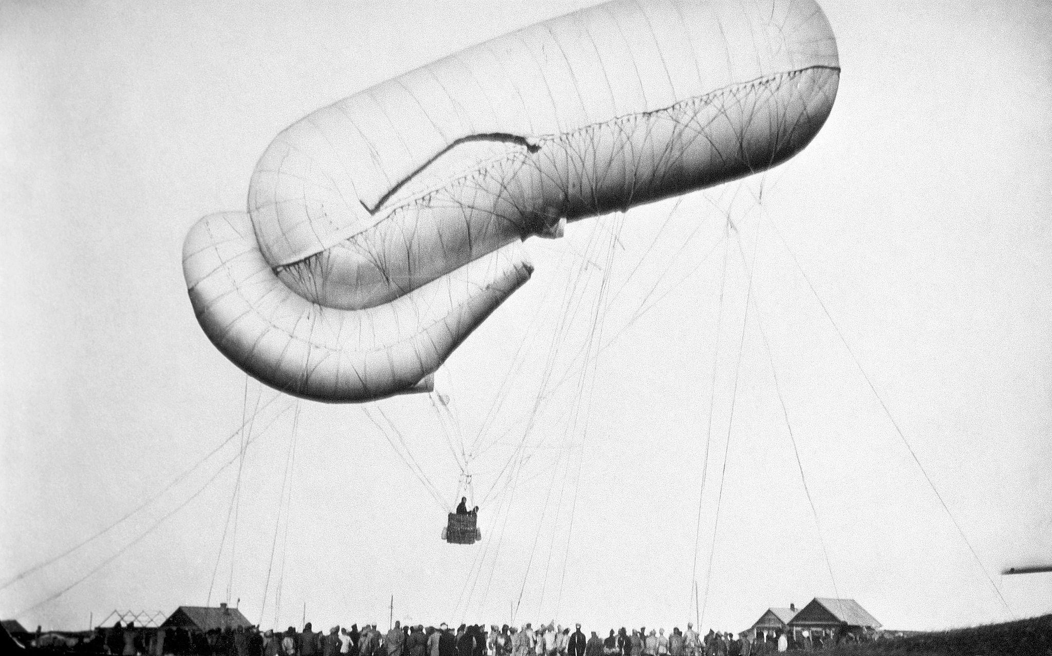 Первый прыжок с парашютом с воздушного шара. Ярославль