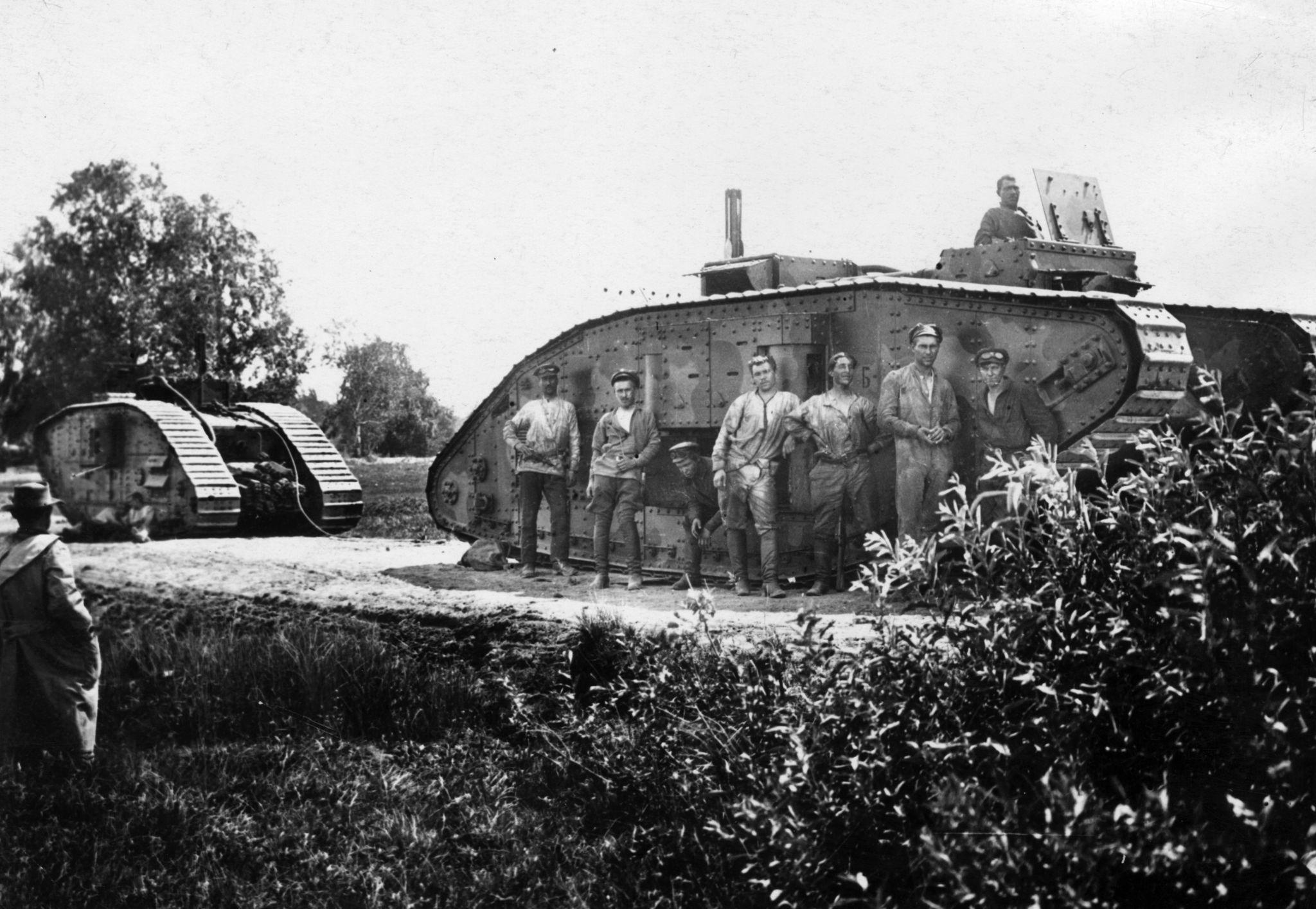 Захваченные большевиками у Деникинской армии танки