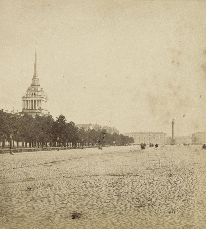 Адмиралтейская площадь от Петровской площади. 1868