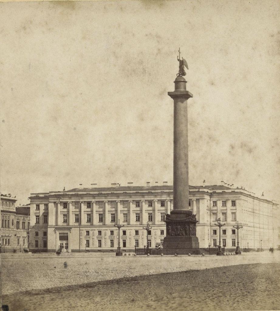 Дворцовая площадь и Адександровская колонна. 1868.
