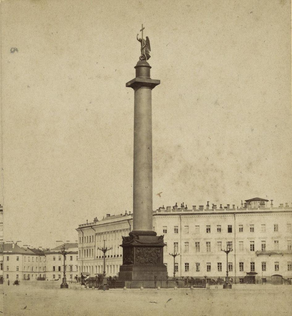 Дворцовая площадь и Адександровская колонна. 1868