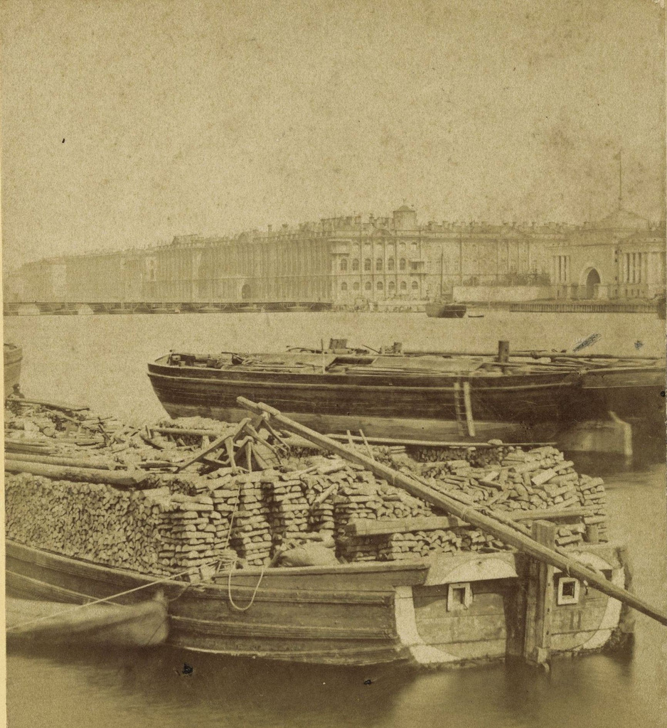 Зимний дворец с Невы. 1868
