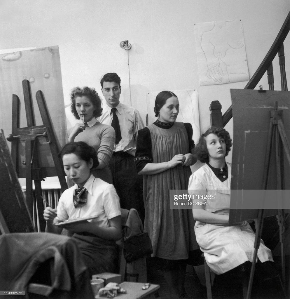 1946. Никола де Сталь в студии Фернана Леже