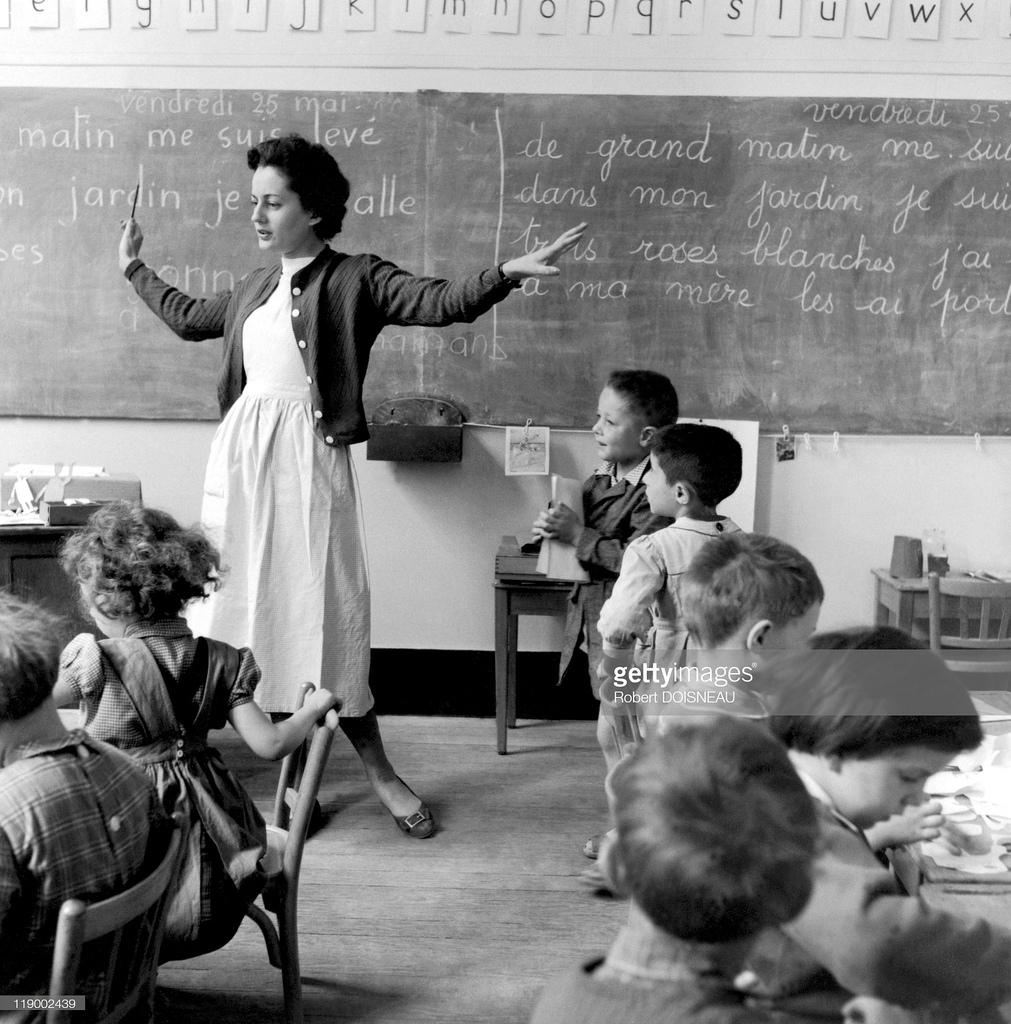 1956. Школа на Рю де Верней, Париж, май