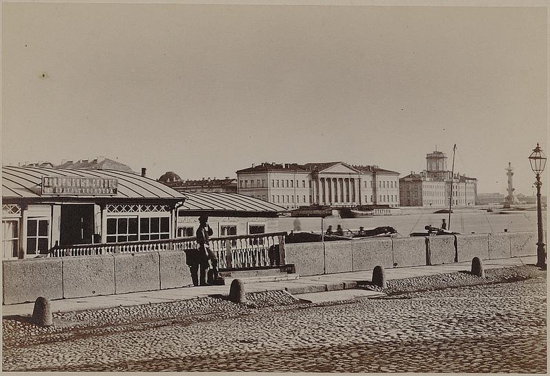 Вид на Университетскую набережную с Английской набережной. 1865