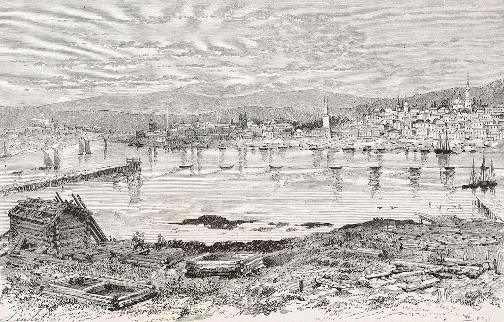 1879. Вид на город Иркутск до Великого пожара