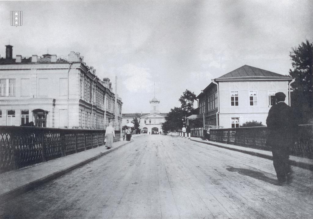 Вид на заводоуправление Ижорского завода в створе Царскосельского проспекта