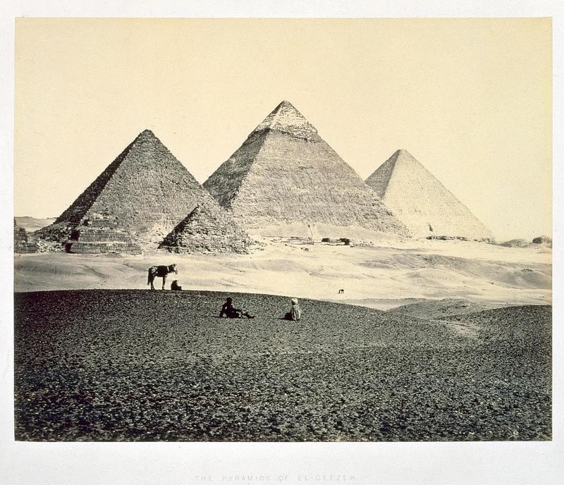 1858. Пирамиды Гизы с юго-запада