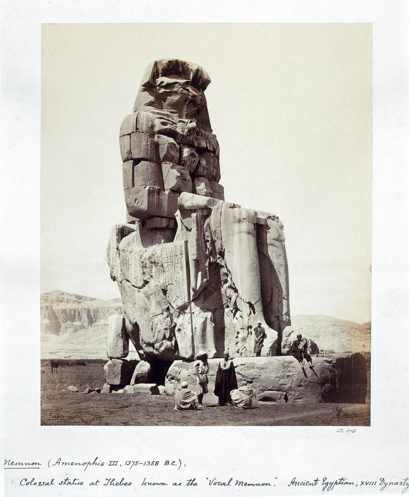 1862. Колосс Мемнона, Фивы