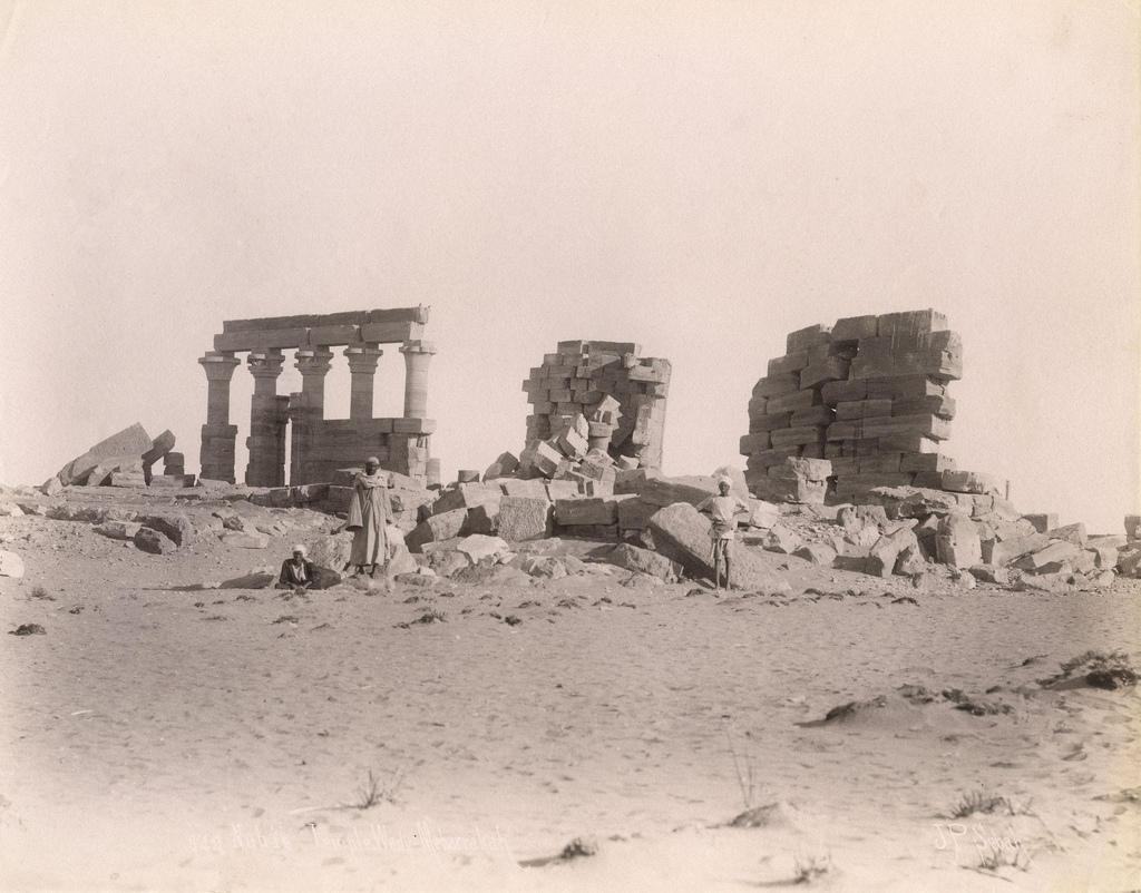 1880. Вид на храм в Мехарраке. Нубия