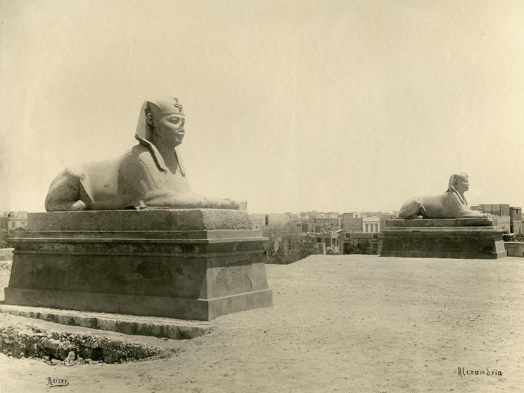 1890. Александрия. Сфинксы