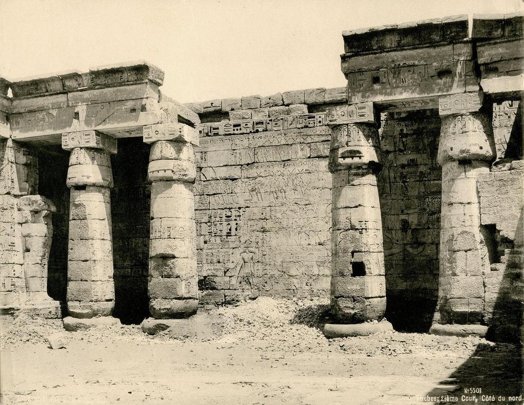 1890. Мединет-Абу. Второй двор погребального храма Рамсеса III