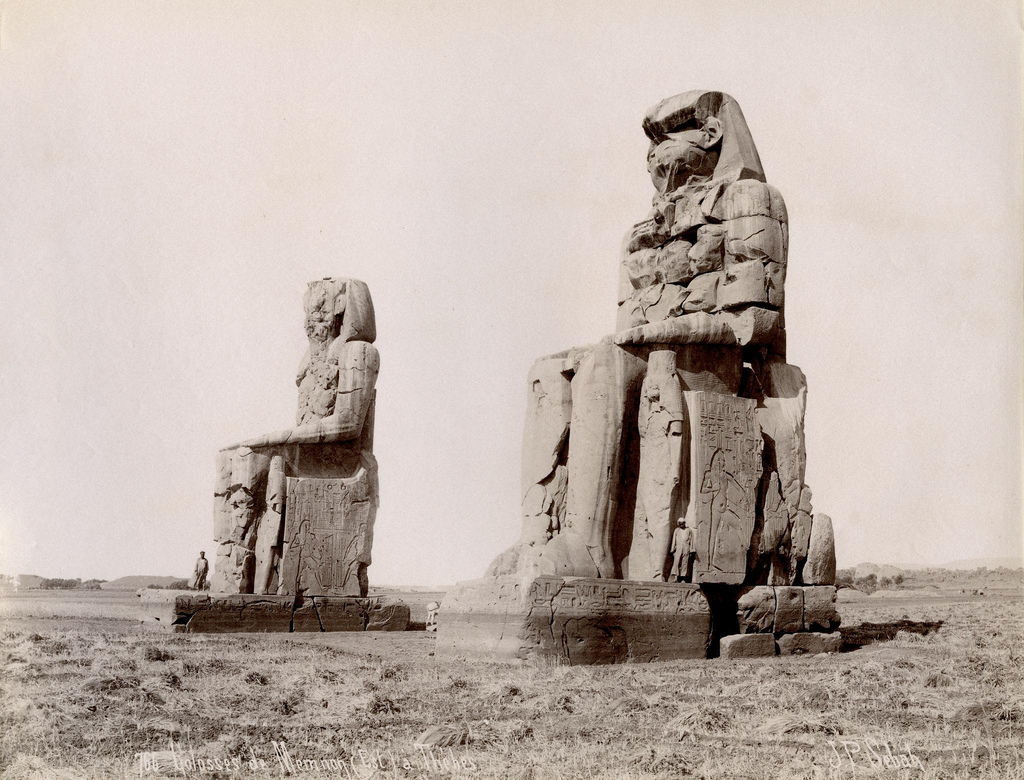 1890. Колоссы Мемнона, Фивы