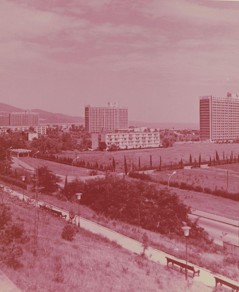 Краснодарский край. Курорт Адлер. Панорама объединения пансионатов