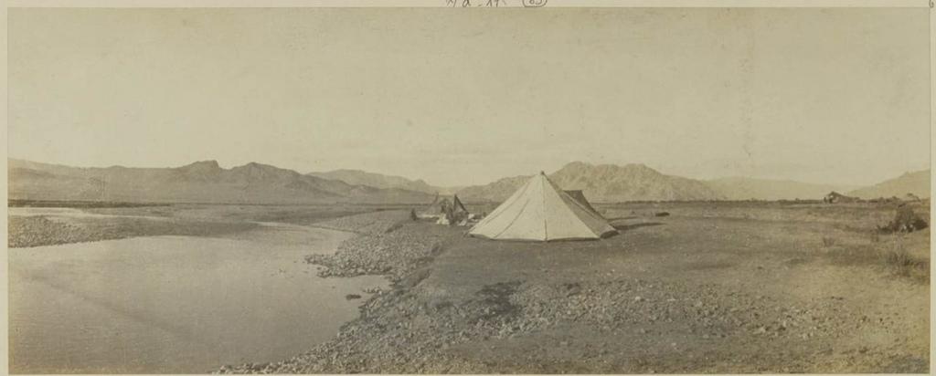 Наш лагерь на левом берегу реки Богдо Гол, 3 сентября