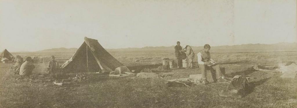 Лагерь на правом берегу Дзапкун Гол, 7 сентября