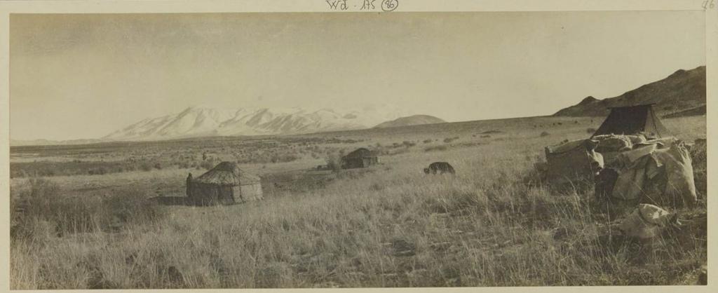 Лагерь на берегу озера Оллон-Нор, 10 октября