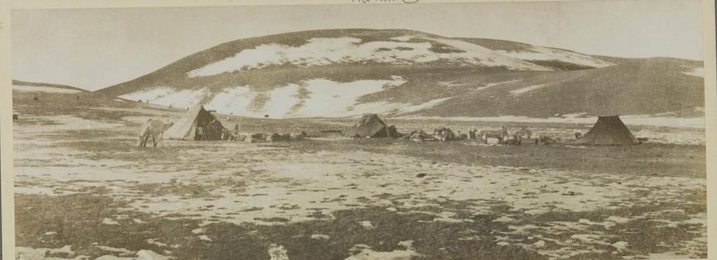 Лагерь на Алтае у подножия перевала Тачунто (-29 °), 16 октября