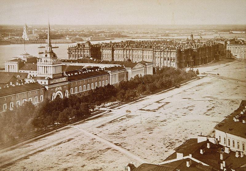 Вид на Адмиралтейство и Зимний дворец. 1865—1866