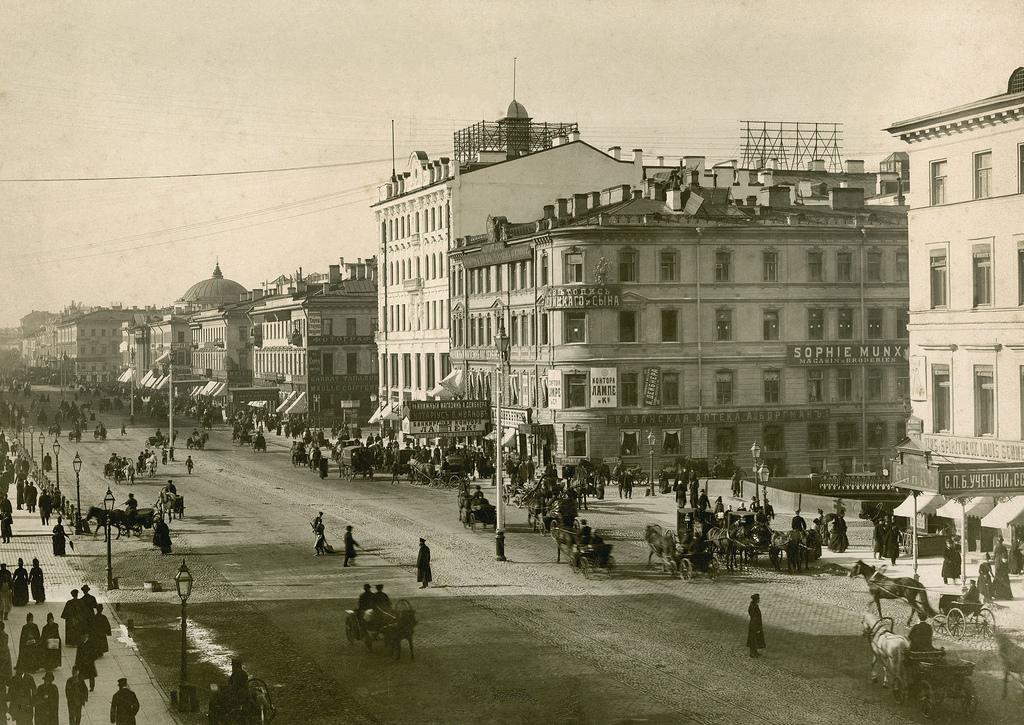 Невский проспект у Казанского моста. 1888