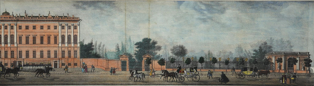 1830-е. Панорама Невского проспекта. Аничков дворец