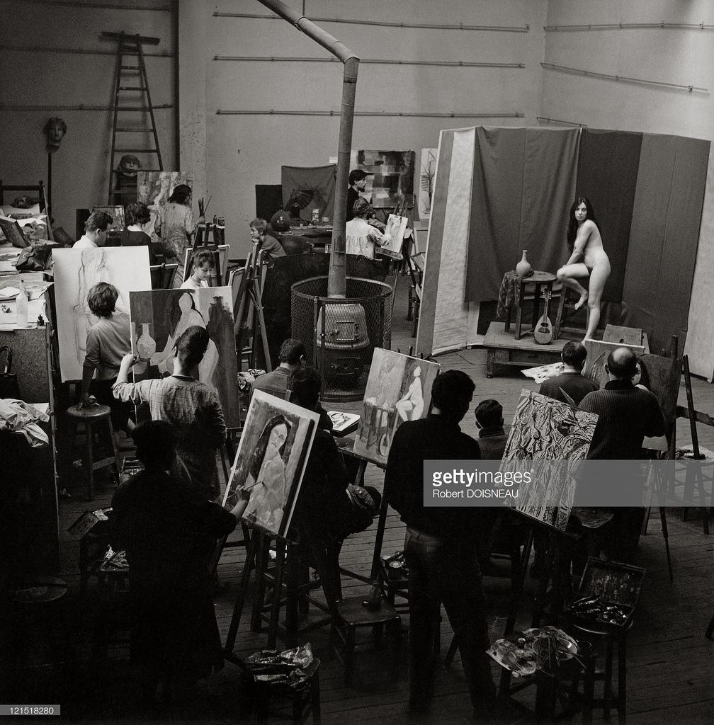 1960. Академия Жюлиана. Март