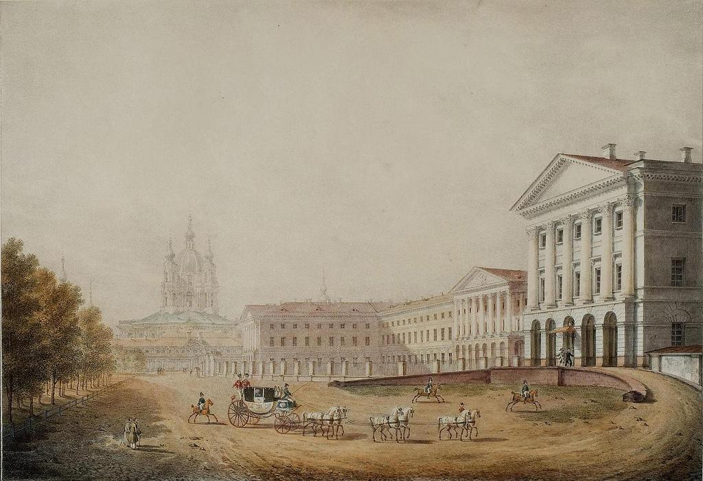 1823. Смольный институт благородных девиц в Санкт-Петербурге,
