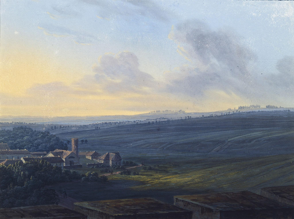 1826. Вид на Царское село с Белой башни
