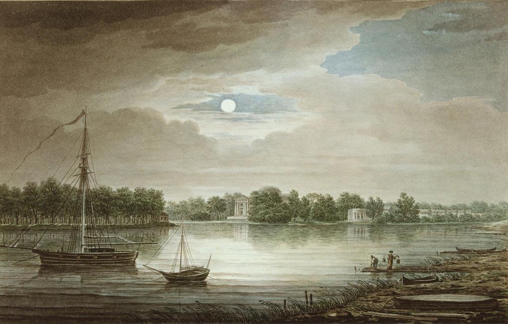 1829. Река Невка около Елагинского моста