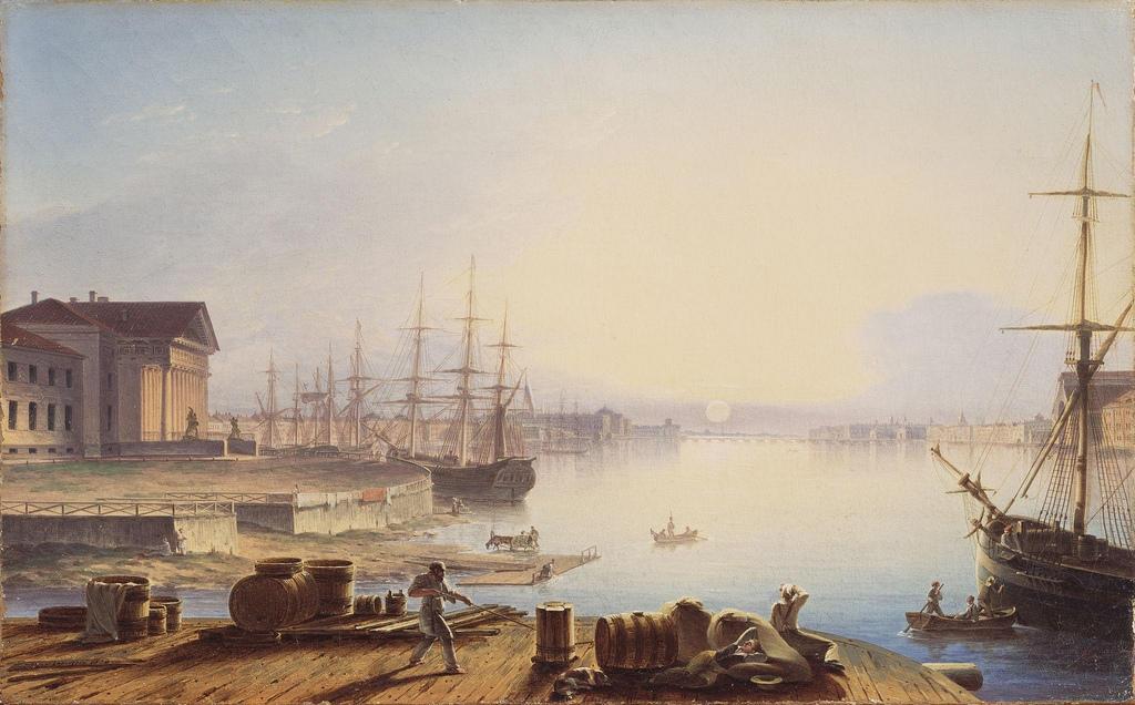1830. Восход солнца над Невой
