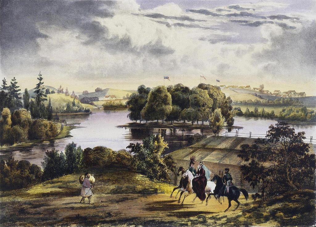 1833. Вид на деревню Ижора