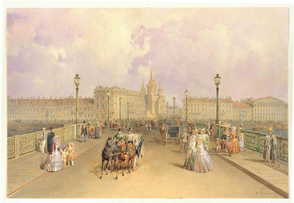 1851. Вид на Благовещенский мост