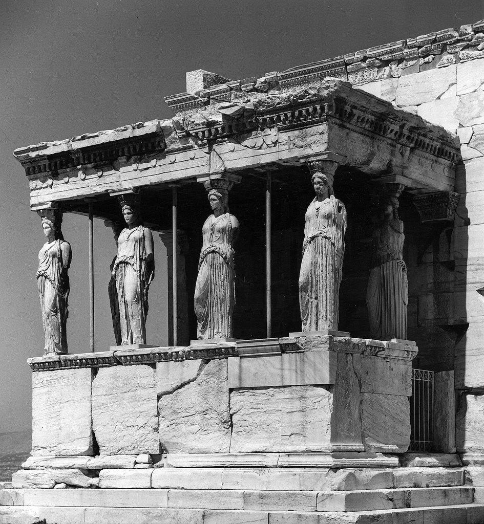 Акрополь. Эрехтейон. Портик кариатид (Пандрозейон)