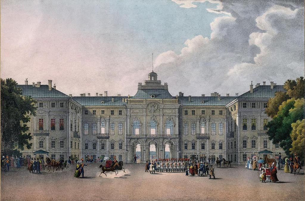 Вид дворца в Стрельне