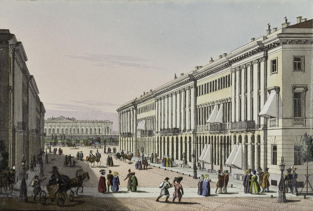 Михайловская улица с видом на Михайловский дворец