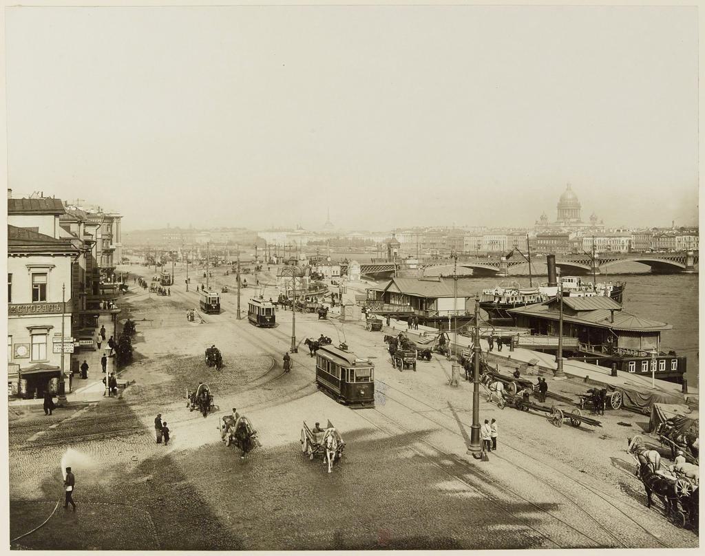 Николаевская набережная и Николаевский мост. 1908