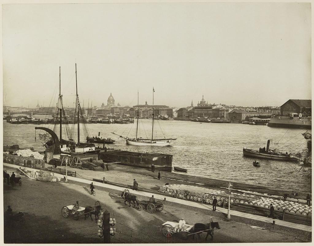 Панорама Невы после Николаевского моста. 1910-е