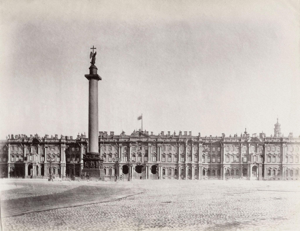 Зимний дворец и Александровская колонна. 1870