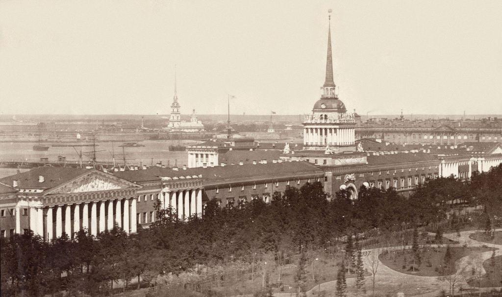 Вид с Исаакиевского собора на Адмиралтейство. 1874