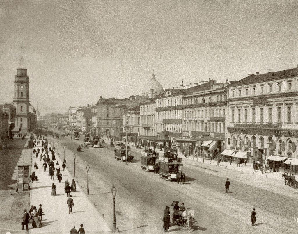 Конка на Невском проспекте