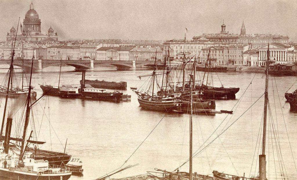 Вид Невы от Морского кадетского корпуса. 1874